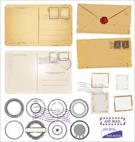 Design retro cartão postal