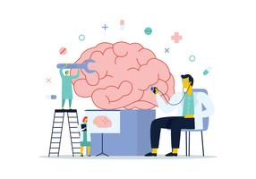 Diagnóstico Cerebral vetor