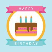 Cartão liso do feliz aniversario vetor