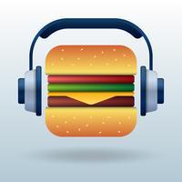 Summer Food Music Conceito de amor ilustração vetor
