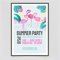 Modelo de cartaz de festa de verão colorido vector