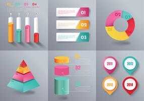 Pacote de vetor de elementos infográfico