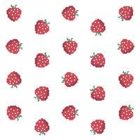 Padrão de morango de pixel vetor