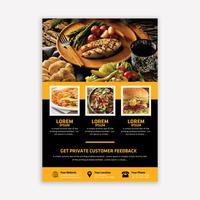 Brochura de alimentos