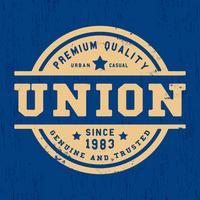 Selo vintage da União