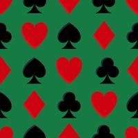 Padrão sem emenda de pôquer de cassino