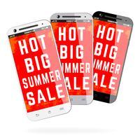 Venda de verão celular vetor
