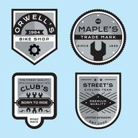 Definir emblemas de bicicleta de vetor