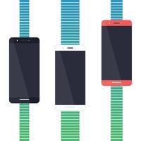 Design plano de smartphone vetor