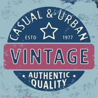 Selo vintage urbano casual