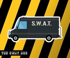 Ônibus da Polícia Swat vetor