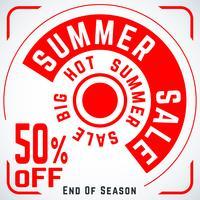 Cartaz de venda redonda de verão vetor