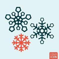 Conjunto de ícones de floco de neve vetor