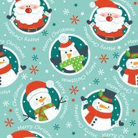 Natal sem costura padrão, vetor