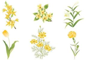 Pacote de vetores de flor amarela