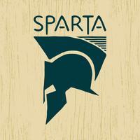 Logotipo do capacete espartano vetor