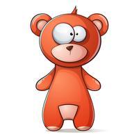 Urso pardo bonito, engraçado, ursinho vetor