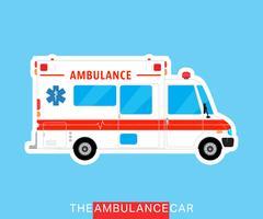 Ônibus de ambulância isolado vetor