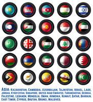 Bandeiras asiáticas dois vetor