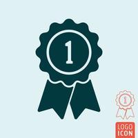 Prêmio ícone isolado vetor