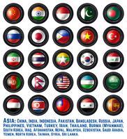 Bandeiras asiáticas vetor