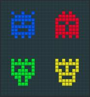 Conjunto de monstros de cor