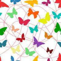 Padrão sem emenda de borboleta vetor