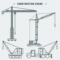 Guindaste de construção de projeto de linha