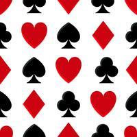 Padrão sem emenda de pôquer de cassino vetor