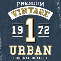 Poster urbano vintage