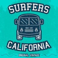 Cartaz de surf vintage