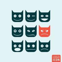 Ícone de emoticons isolado