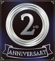 Anel de aniversário de prata