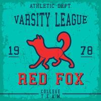 Poster vintage de raposa