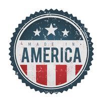 Feito no selo do emblema dos EUA