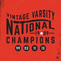 Selo nacional do vintage vetor