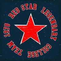 Vintage estrela vermelha