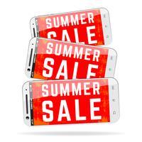 Telefone móvel da venda do verão vetor