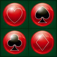 Botão de cassino de pôquer