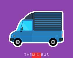 Caminhão de carga de entrega vetor