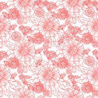 Padrão floral sem emenda na moda vetor
