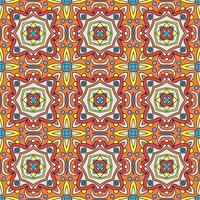 talavera oblana mexican seamless pattern vetor