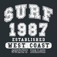 impressão vintage de surf