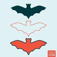 Ícone de morcego isolado vetor