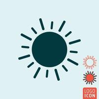 Sol, ícone, isolado vetor