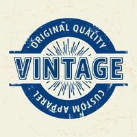 Selo vintage personalizado vetor
