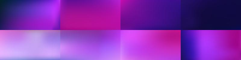 Conjunto de fundos de malha colorido abstrato suave vector design