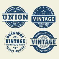 Conjunto de selo do vintage vetor