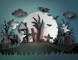 festa de Halloween vetor