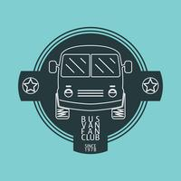Logotipo de van de ônibus vetor